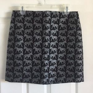 J.Crew Mini Skirt Zebras printed Size 6
